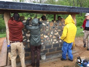 Natural Building workshop with Wayne Weiseman, with a focus on cordwood building - October 7th-9th, 2017.